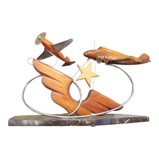 French Art Deco Airplane Sculpture