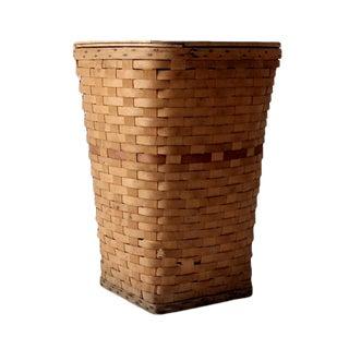 Vintage Basket Weave Hamper