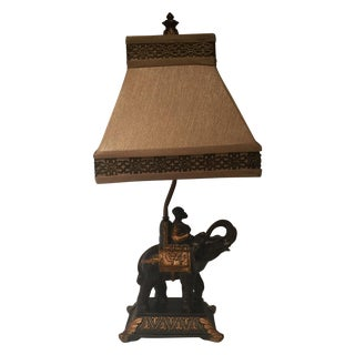 Elephant With Monkey Rider Table Lamp