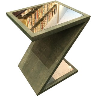 Z-Shaped Table with Antiqued Mirror