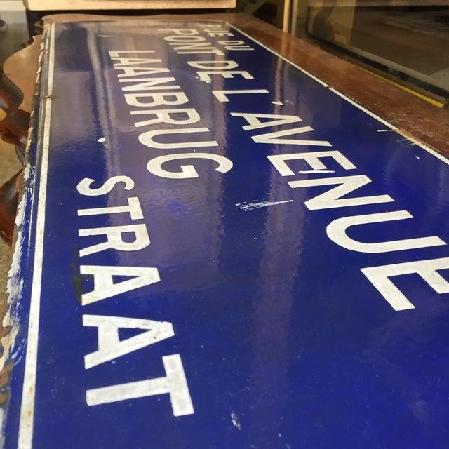 Rue Du Pont De L'Avenue Porcelain Street Sign - Image 8 of 8