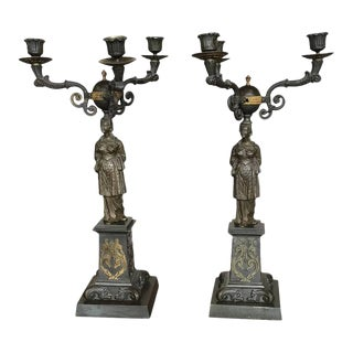 Mid-19th Century Figural Candelabras - A Pair