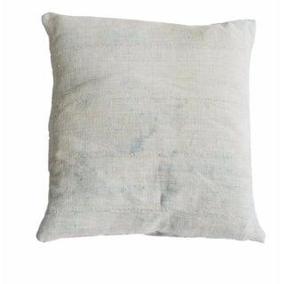Faded Powder Blue Indigo Pillow