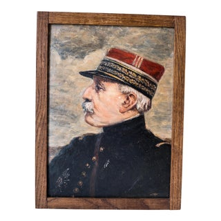 Antique French General Oil Painting