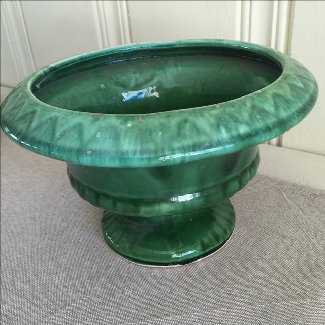 Mid-Century Green Pottery Vessel - Image 6 of 7