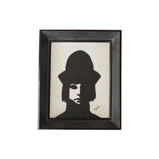 Harlequin Black and White Portrait Painting