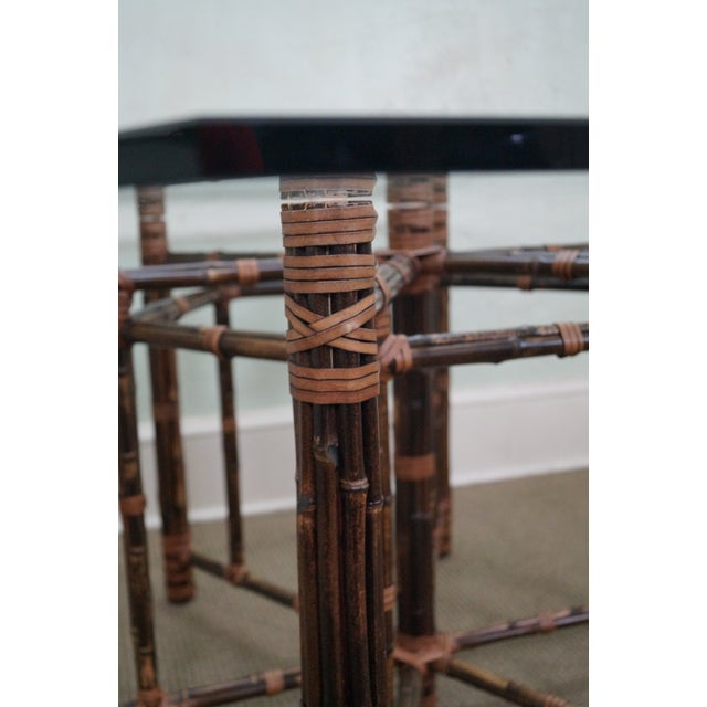McGuire Rattan Dining Table - Image 7 of 10