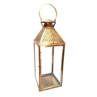 Moroccan Brass Candle Lantern