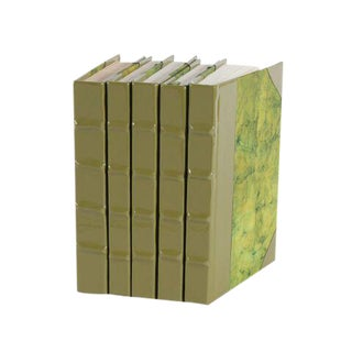 Patent Leather Army Green Books - Set of 5
