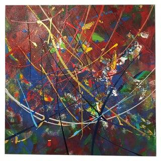 Steve Barylick Vibrant Abstract Acrylic Painting