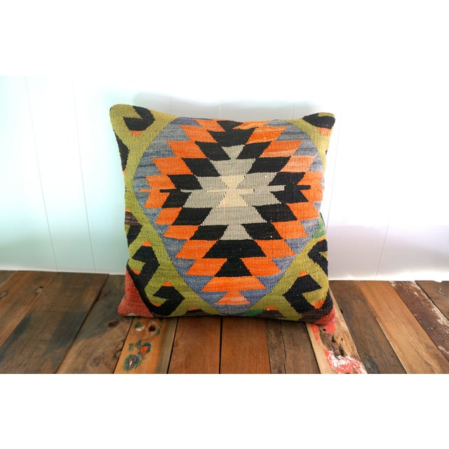 Vintage Rug Fragment Pillow - Image 4 of 5