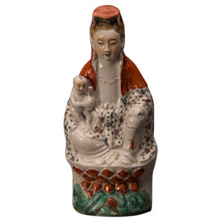 """Guanyin"" hand made porcelain figure from Kuang Hsu period China c.1875"
