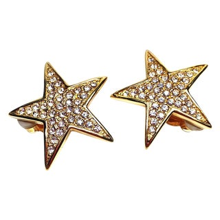 Joan Rivers Gold Star Earrings
