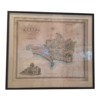 Framed 1829 Original Map County of Dorset, England