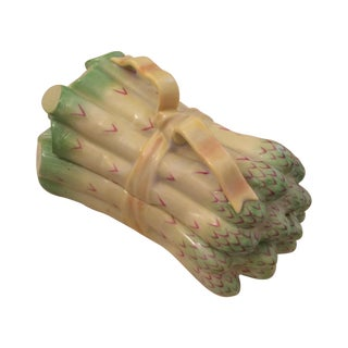 Herend Asparagus Ceramic Trinket Box