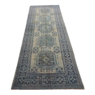 """Handknotted Turkish Overdyed Rug - 4'6"""" X 12'4"""""""