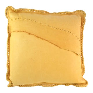 Golden Leather Pillow