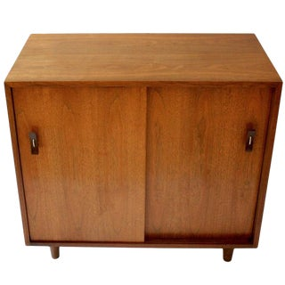 Stanley Young for Glenn of California Mid-Century Small Walnut Credenza