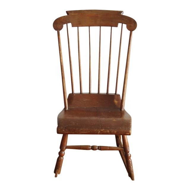 Antique Primitive Rocking Chair - Image 1 of 8