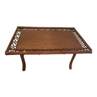 Bamboo & Rattan Dining Table