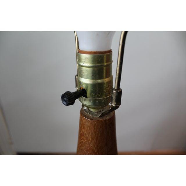 Mid-Century Danish Modern Teak Bulb-Style Lamp - Image 9 of 10