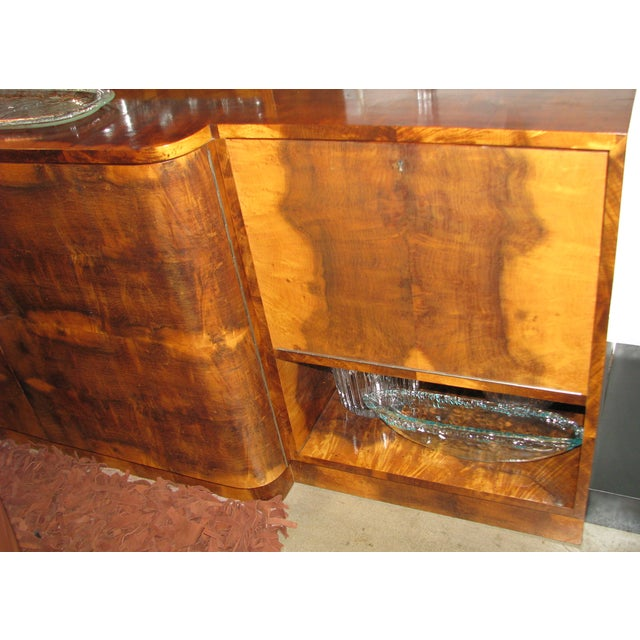 French Art Deco 2-Tiered Paldao Burlwood Sideboard - Image 6 of 11
