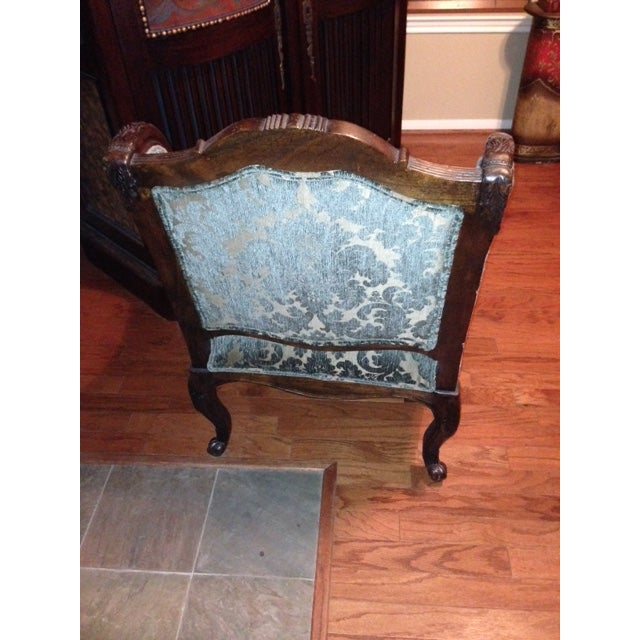 Handcrafted French Louis XV Style Bergere Chair - Image 7 of 10