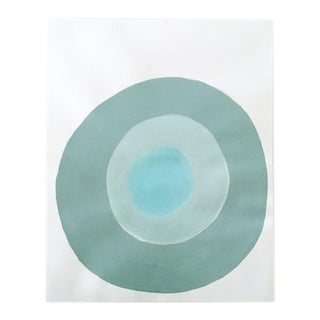"""Neicy Frey """"Dot No. 25, Swimming"""" Original Painting on Paper"""