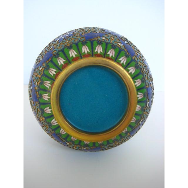 Image of Vintage Chinese Gilded Cloisonne Vase