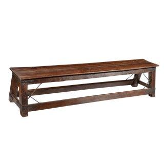 Colonial Teak Wood Bench