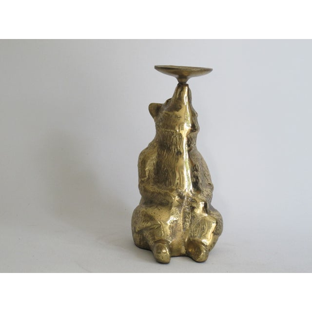Image of Brass Circus Bear Candleholder