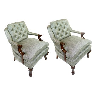 Snakeprint Cotton Bedroom Chairs - Pair