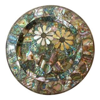 Los Castillo Silver Inlay & Shell Plate