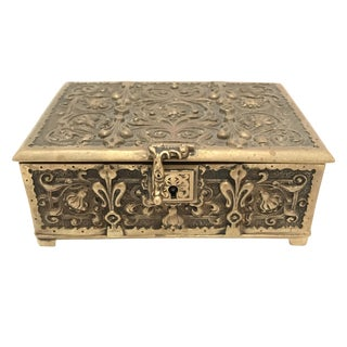 Vintage Brass Lidded Keepsake Box