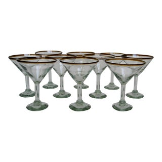 Mexican Glass Barware - Set of 10