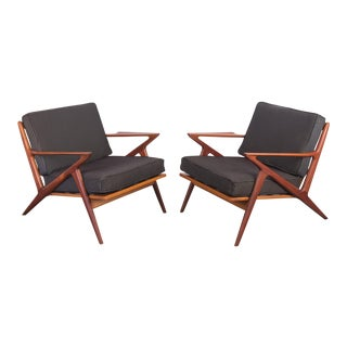 """Pair of """"Z"""" Chairs by Poul Jensen for Selig"""