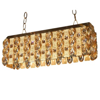 Lobmeyr Crystal and Gold Pendant