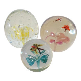 Butterflies & Floral Paper Weights - Set of 3