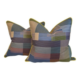 "Maharam ""Assembled Check"" Pillows - A Pair"