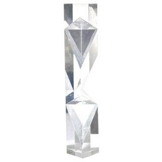 Alessio Tasca Prismatic Lucite Tower Sculpture