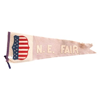 Antique NE Fair Felt Flag Pennant