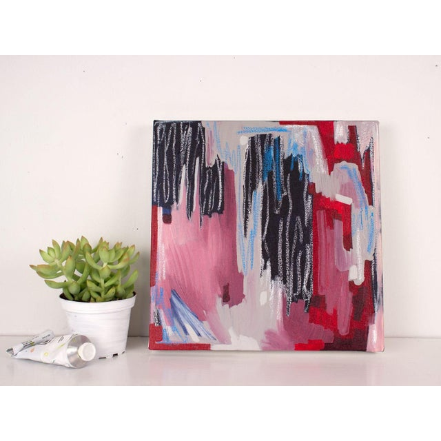 Linda Colletta Rouge Et Bleu II Painting - Image 3 of 3