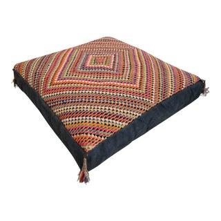 Turkish Hand Woven Kilim Floor Cushion Pillow Cover - 35″ X 35″