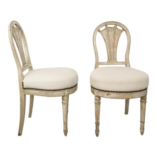 Swedish Shieldback Side Chairs - A Pair