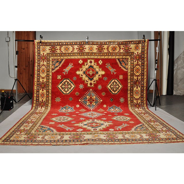 Pakistani Kazak Rug - 7′5″ × 9′ - Image 2 of 6