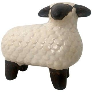 Ceramic Glaze Hand-Painted Lamb Sculpture