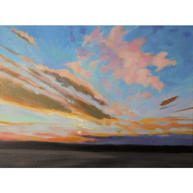 """Sunrise"" Original Painting A.Carrozza Remick - Image 1 of 7"