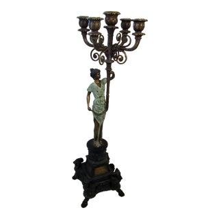 Traditional Bronze Figural Candelabra