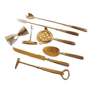 Vintage Bronze Bar Tools - Set of 8