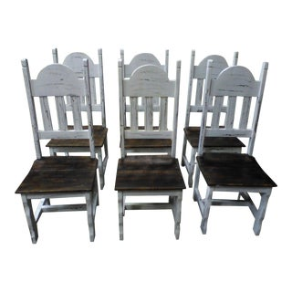 Reclaimed Wood Dining Chairs - Set of 6